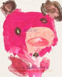 pink teddy by onionslumzero