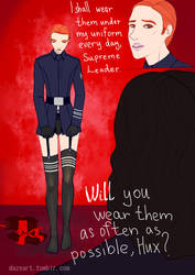 Hux in stockings is my waifu by LordMars