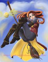 Ginny Weasley by lapizypincel