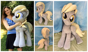 ''Life-size'' (34 inches) Derpy Plushie by equinepalette