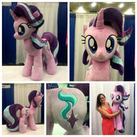 Life-sized Starlight Glimmer Plushie by equinepalette