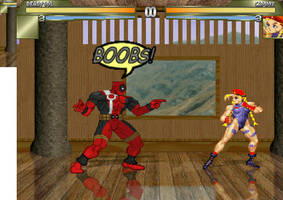 Deadpool meets Cammy by Re-evolution360