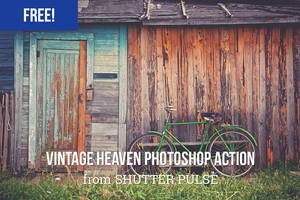 Free Vintage Heaven Photoshop Action by shutterpulse