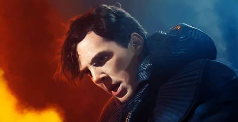 Benedict Cumberbatch (Khan) by JannaLowe