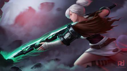 Riven - The Exile League of Legends Fanart by patrickdeza