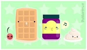 Waffle Jammin' by BluNiebieski