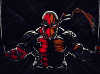 Deadpool vs Deathstroke by MommyLexis