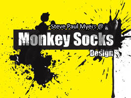 Monkey Socks Design 1 by StevePaulMyers
