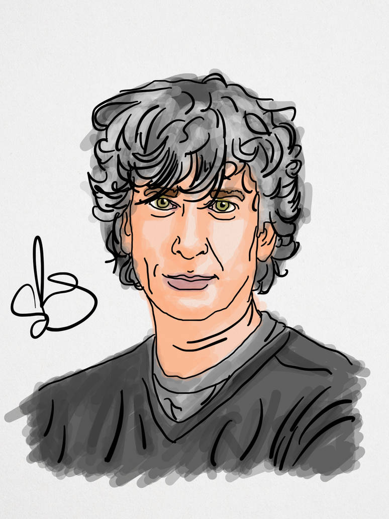 Neil Gaiman by StevePaulMyers