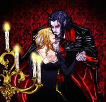 Dracula and Lisa by XxLevanaxX
