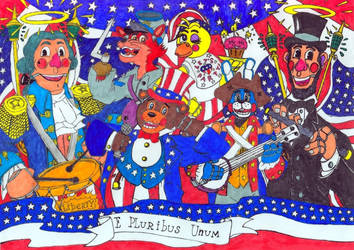 4th of July's Good Ol' Merry Band by Pandaren-Chaplain