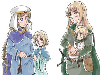 APH: Celtic Ancestors+Children by fir3h34rt