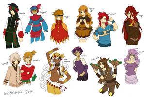 PKMN Gijinka Doodles Pt. 2 by fir3h34rt