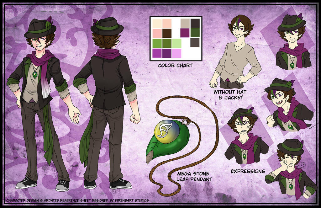 Commission: Character Reference Sheet Vrdnt25 by fir3h34rt ...