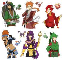 PKMN Gijinka Doodles Pt. 9 by fir3h34rt