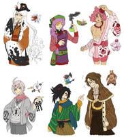 PKMN Gijinka Doodles Pt. 10 by fir3h34rt