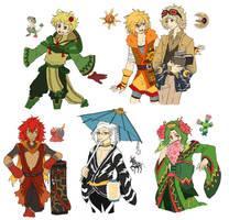 PKMN Gijinka Doodles Pt. 11 by fir3h34rt
