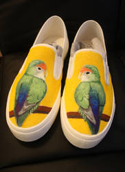 Comissioned lovebird shoes by dannyPs-customs