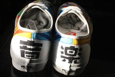 Breakdancing Panda shoes - back by dannyPs-customs