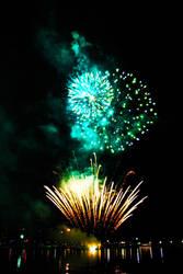 Docklands Fireworks IV by Aurrum