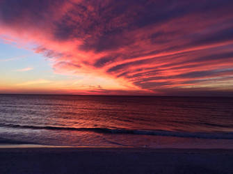 Blazing Sunset by PatriciaRodelaArtist