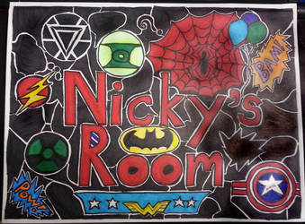 Nicky's Room Sign by KhaosWolfKat