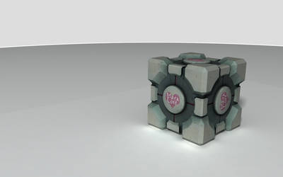 Companion Cube - Portal by Maya-Core