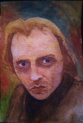 Rik Mayall watercolour by david-lover-forever