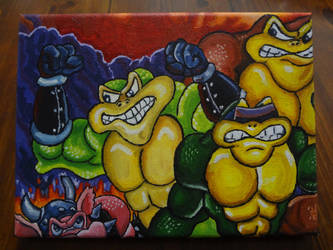 BATTLETOADS Acrylics by shaunC