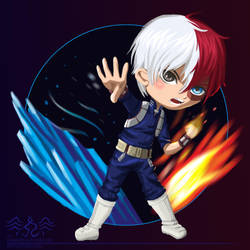 Chibi Shoto Todoroki [My Hero Academia] by DarkPhazonElite
