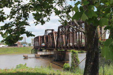 Rail Bridge over the Ouachita River in Louisiana 2 by frozenintime9