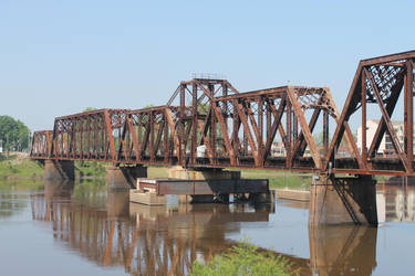 Rail Bridge over the Ouachita River in Louisiana 5 by frozenintime9