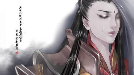 darkness tear detail by huachui