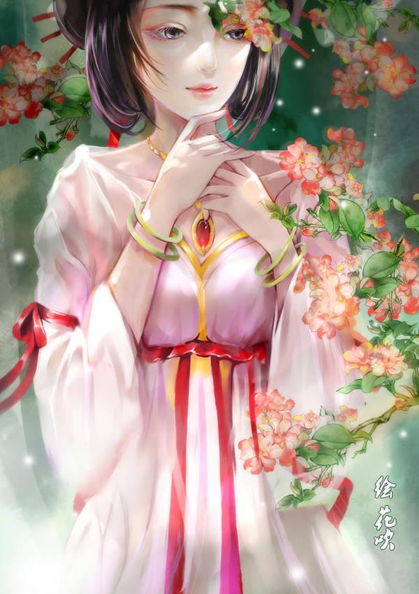 flowering apple by huachui