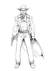 Bad guy in ink by Denalentan