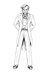 Joker inking by Denalentan
