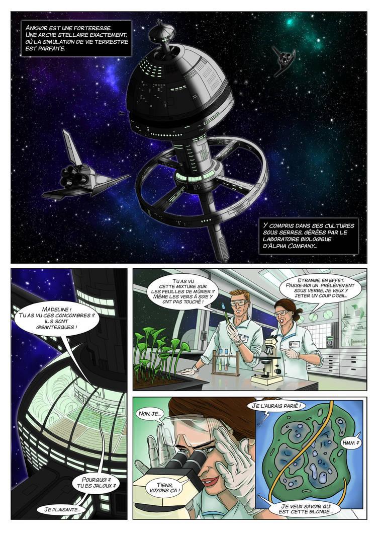 Space comic page by Denalentan