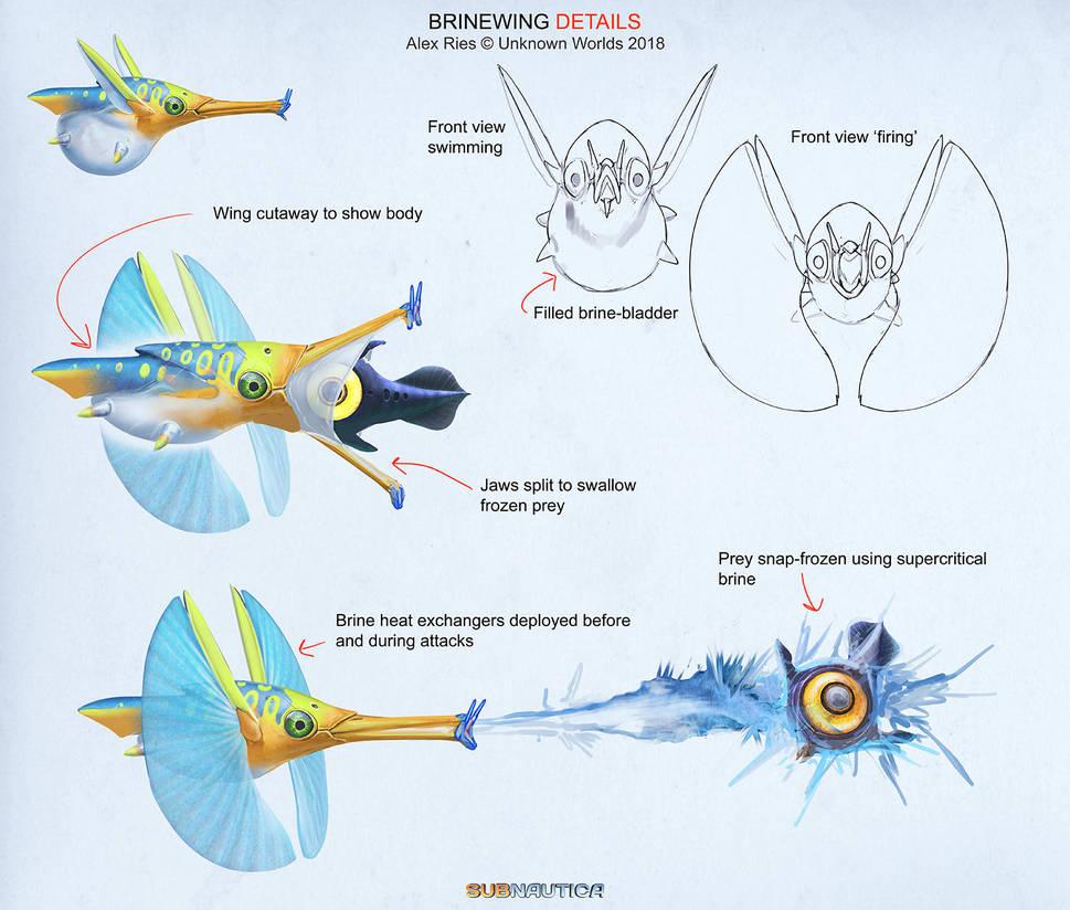 Subnautica: Below Zero - 'Brinewing' Details by Abiogenisis