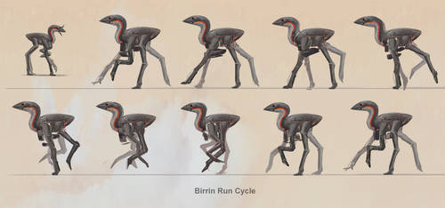 Birrin - Run Cycle by Abiogenisis