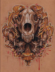 101x10 colored pencil skulls by Jackie Rabbit by jackierabbit12