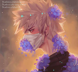 bakugou + painting tutorial  by Bluebiscuits