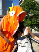 Magikarp swallowing Snorlax by reenimochi