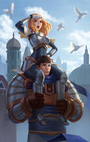 Lux and Garen by Rumbee