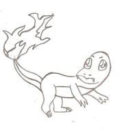 Charmander Sketch by Ajustice90