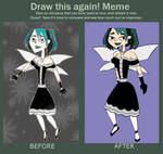 Before and After Meme Gwen Keeper Form by Ajustice90