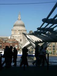 Millenium Bridge, London by MarchOfShadows