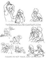Sasukarin sketches by TwinEnigma