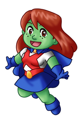 Chibi Miss Martian by TwinEnigma