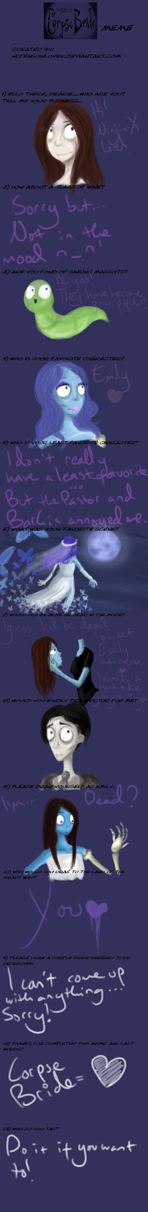 Corpse Bride Meme By Ninjin X On Deviantart
