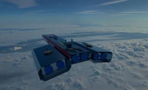 Triton Class Heavy Battle Cruiser 2 by planetrix15